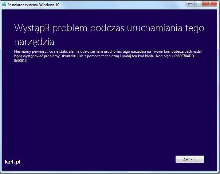 błąd aktualizacji windows 10 0x800704DD-0x90016