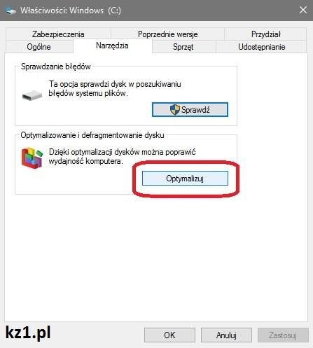defragmentacja w Windows 10