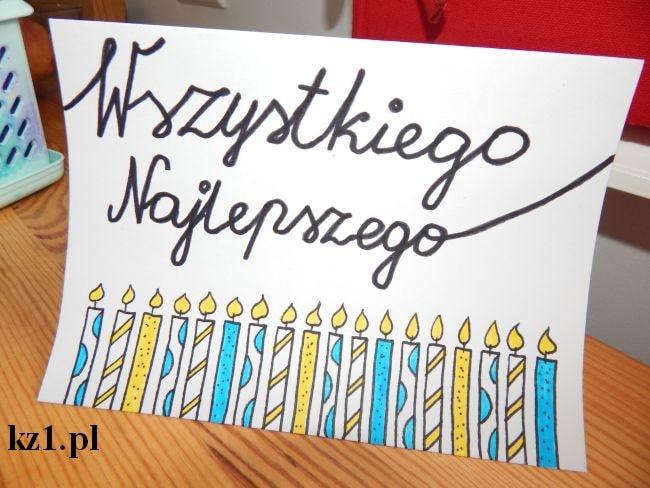 kartka na 18 urodziny ręcznie robiona
