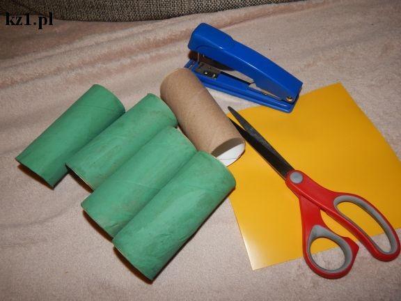 rolki po papierze toaletowym, możyczki, zszywacz
