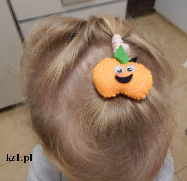 spinka do włosów w kształcie dyni
