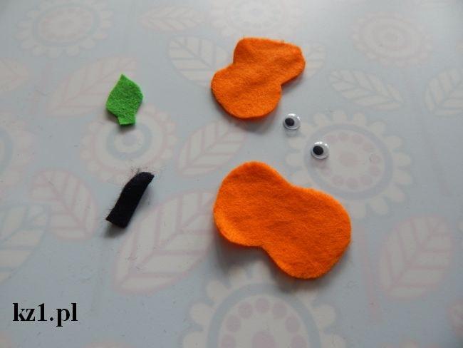 elementy filcowe do zrobienia dyni