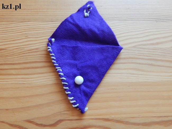 fioletowy filcowy portfel