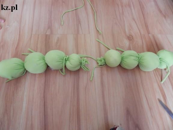 gąsiennica z rajstopy