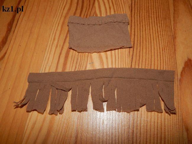 grzywka włosy dla lalki z rajstopy