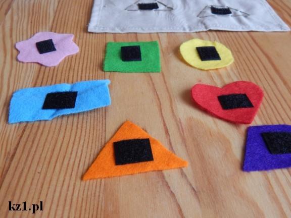 figury geometryczne cicha książka