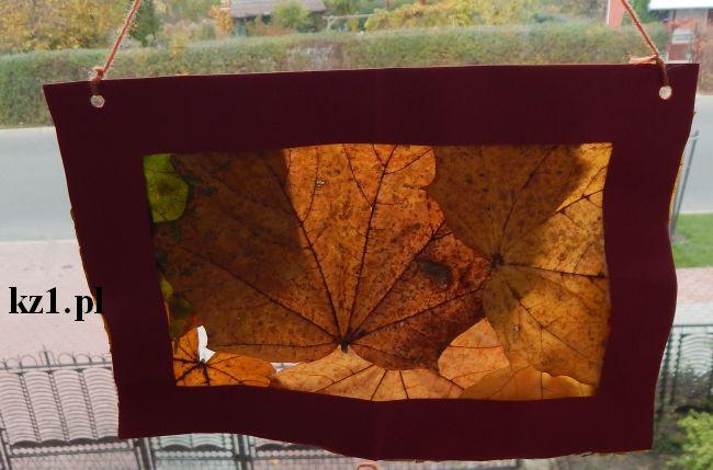 witraż z liści