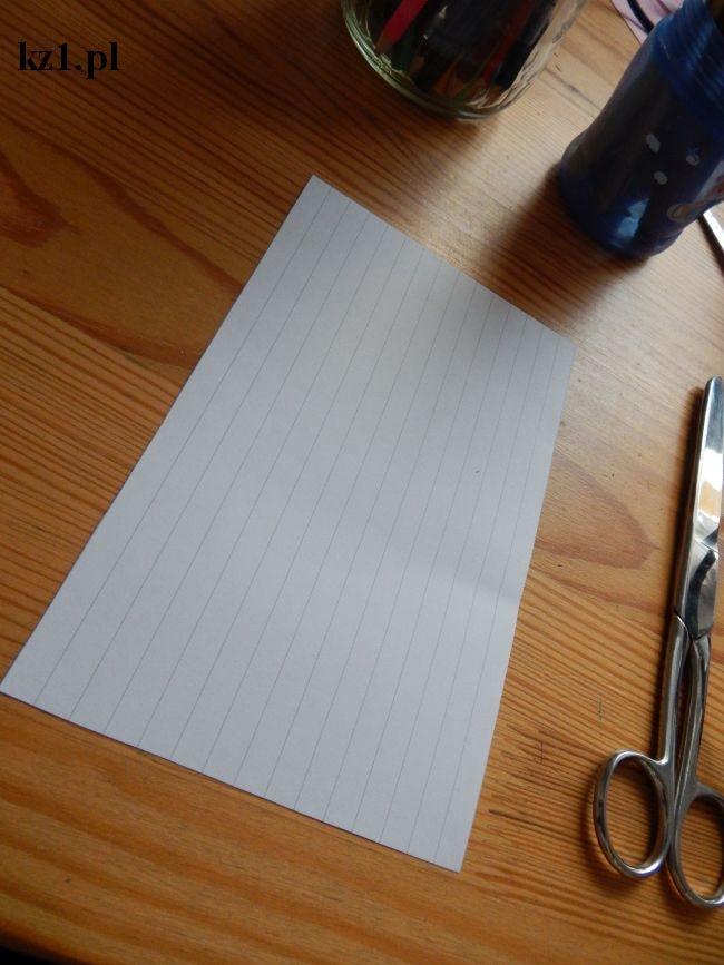 kartka w linie