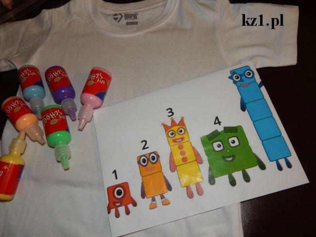 farby do tkanin i koszulka