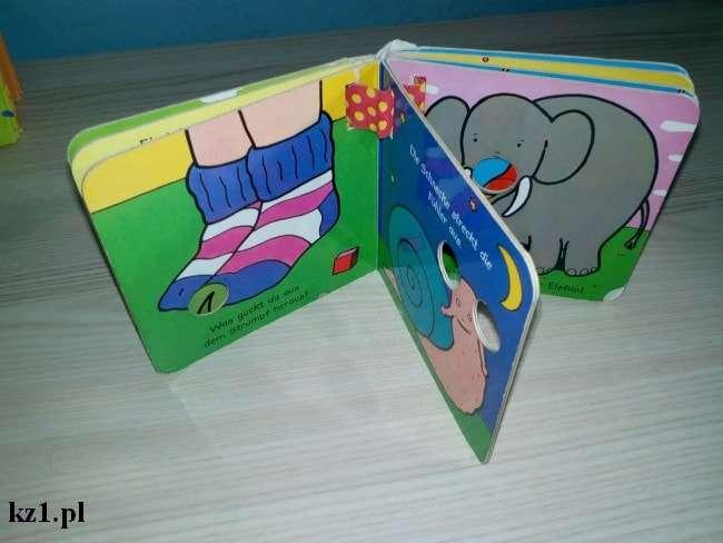książeczka dla dzieci z miejscem na palce