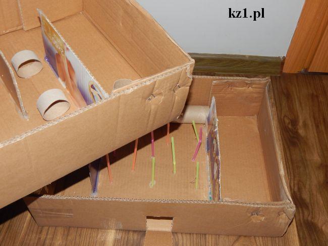 labirynt dla chomika z kartonu
