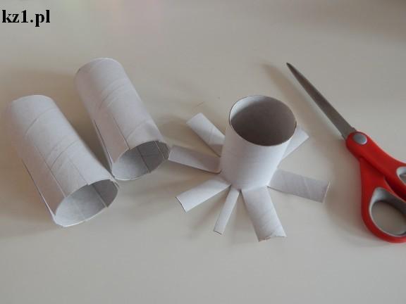 przecięte rolki po papierze toaletowym
