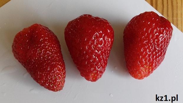 wygląd owocu truskawki pnące całorocznej