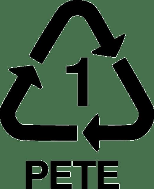 trójkąt na opakowaniach plastikowych