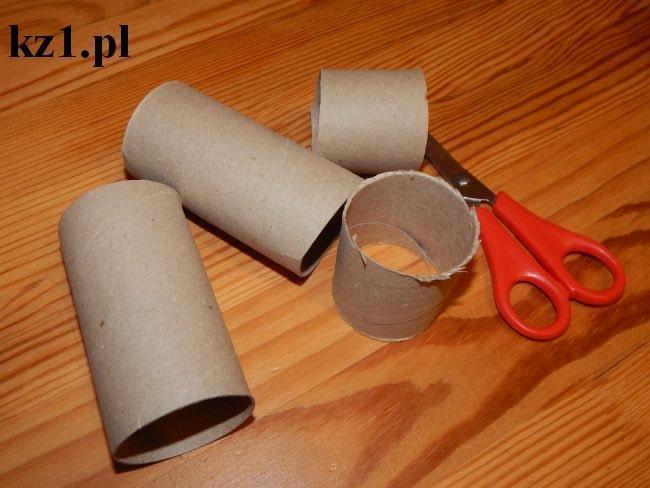 rolki po papierze i nożyczki