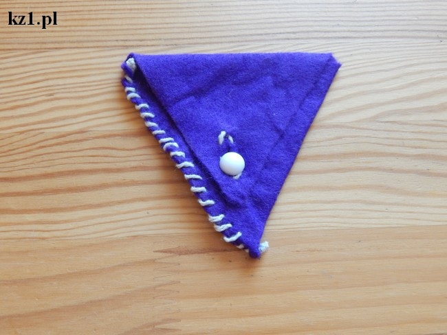 saszetka portmonetka na drobne zrobiona z filcu
