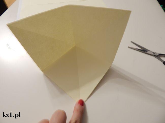 sklejamy kartę papieru