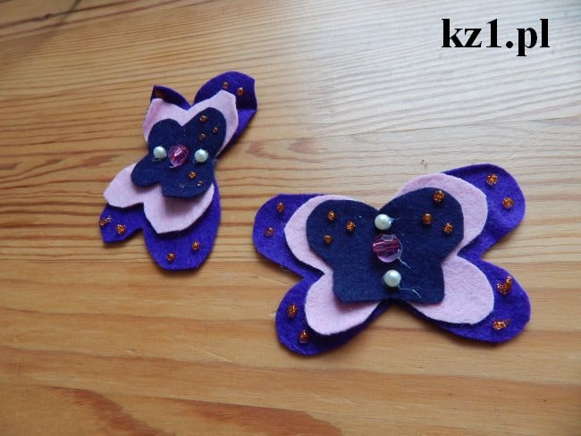 szablon na spinki w kształcie motyla