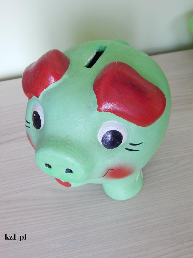 świnka skarbonka zielona