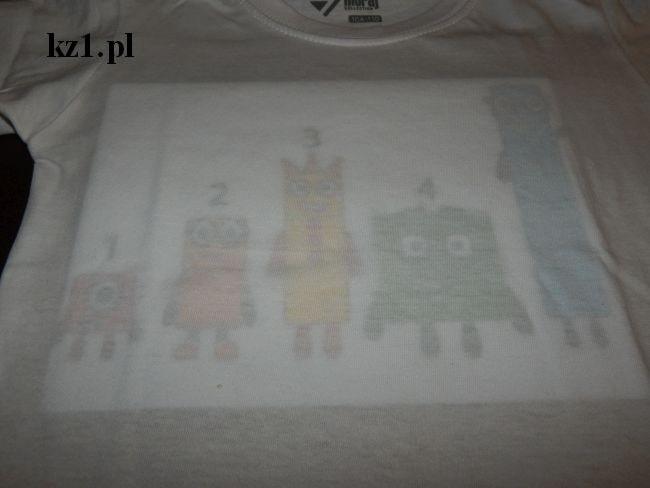 szablon na koszulkę numberblocks