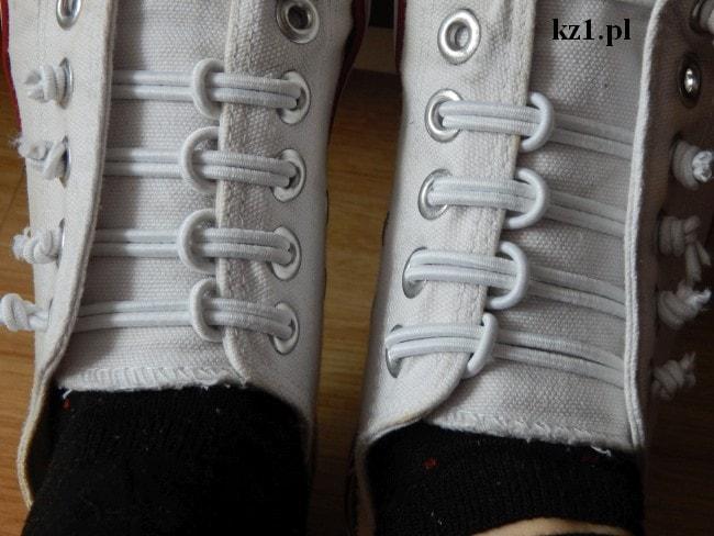 wiązanie butów gumkami