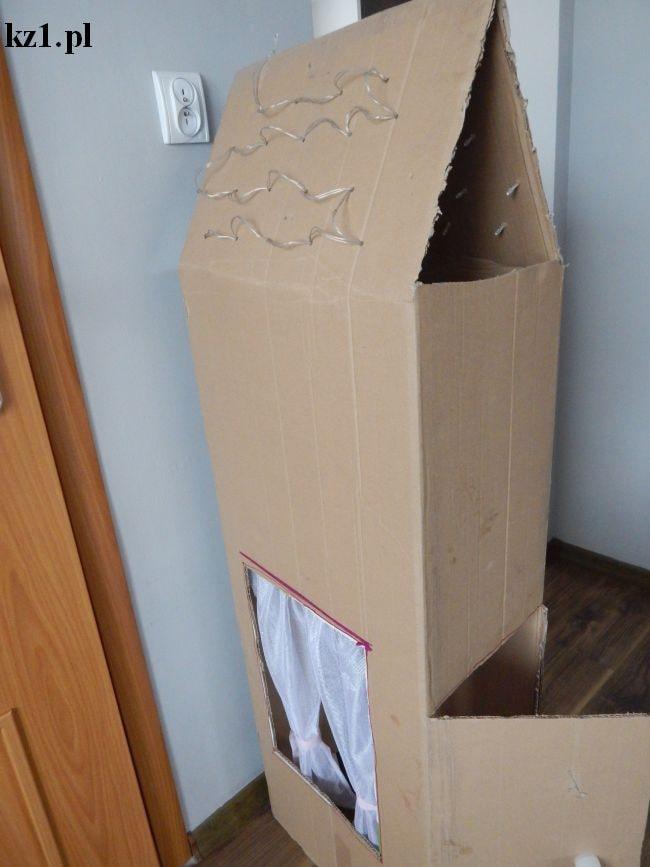 domek z kartonu do zabawy dla dzieci