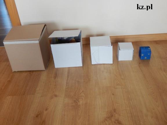 pudełka z kartonów