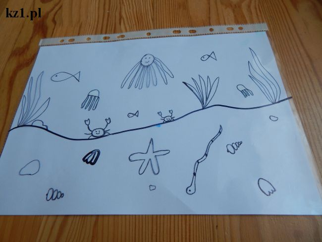 narysowany podwodny świat