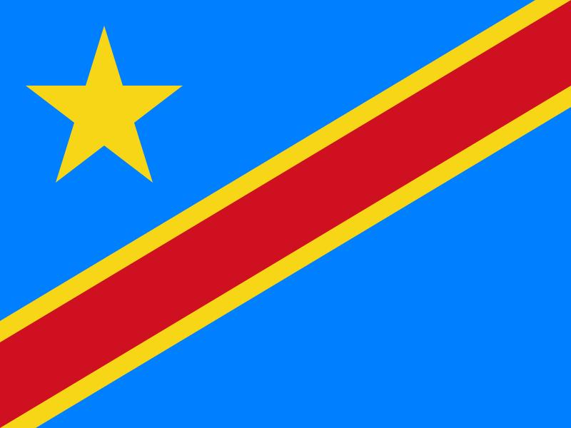 flaga demokratycznej republiki konga