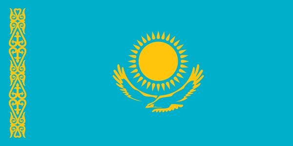 flaga kazachstanu