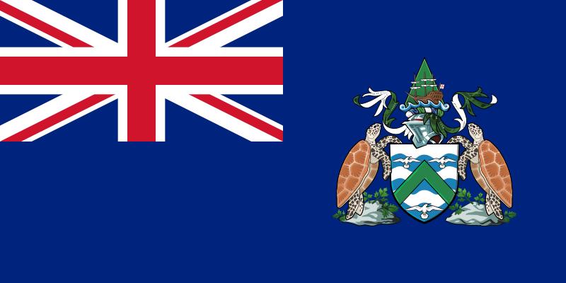 flaga wyspy wniebowstąpienia