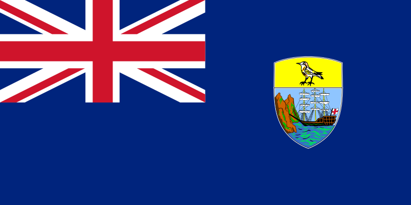 flaga wyspy świętej heleny