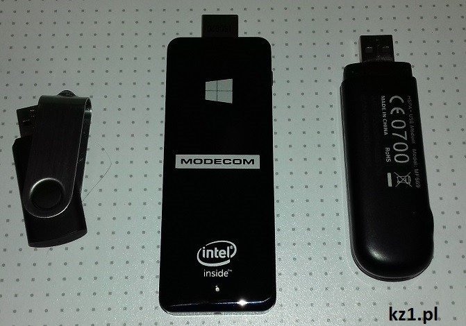wielkość freepc w porównaniu z pendrive i modemem gsm