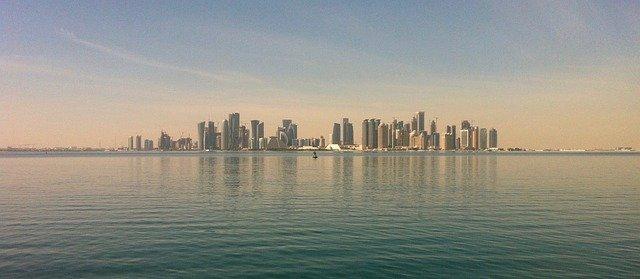 widok na miasto doha w Katarze