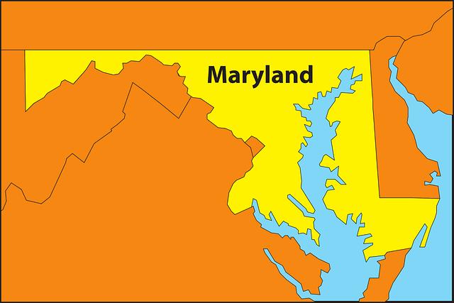 maryland mapa