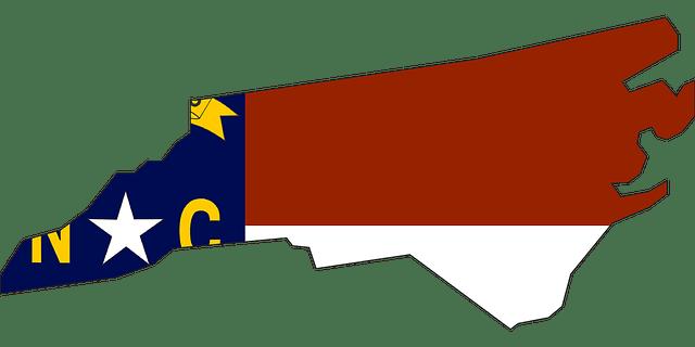 karolina północna mapa