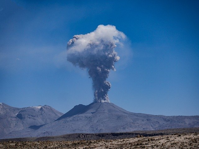 zdjęcie wulkanu