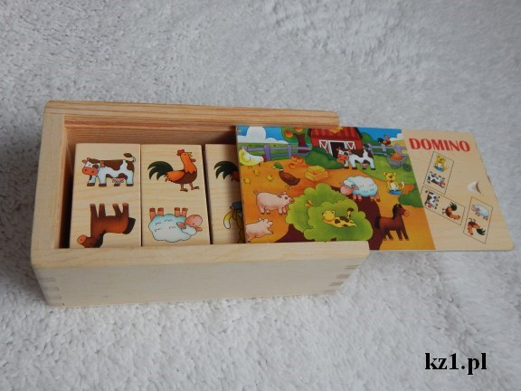 drewniane domino dla najmłodszych dzieci