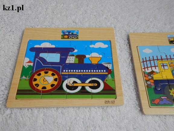 drewniane puzzle ze wzorem do ułożenia