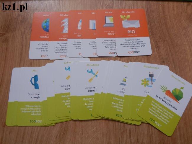 karty akty własności gra ecopoly