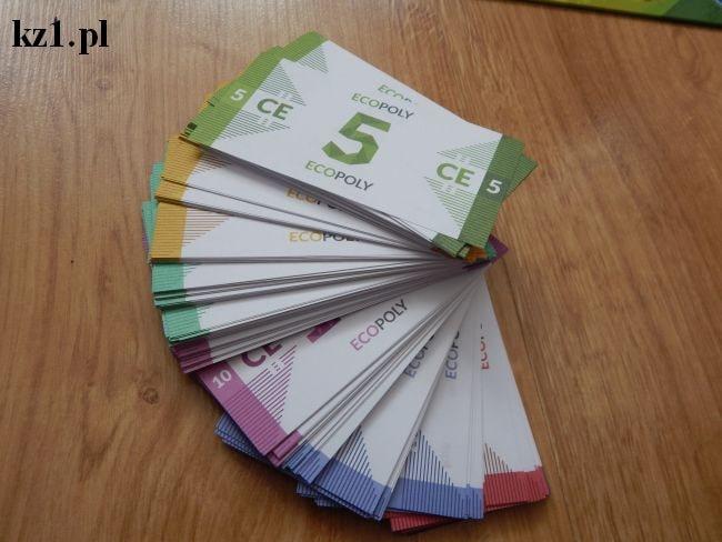 banknoty w grze ecopoly