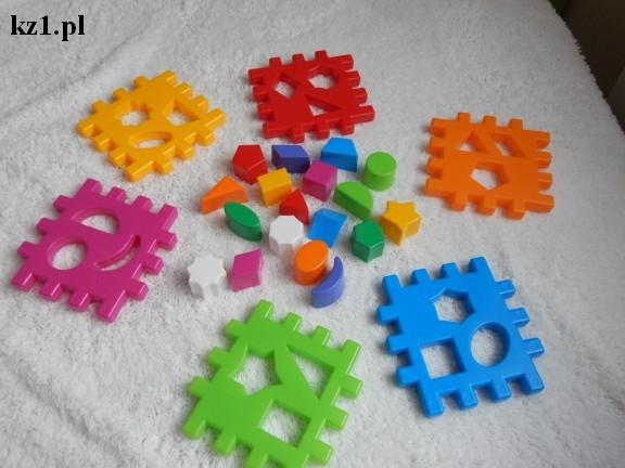 kolorowa kostka kształtów