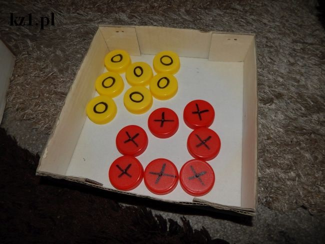 nakrętki do gry kółko i krzyżyk