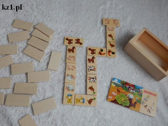 pierwsze drewniane domino dla dziecka