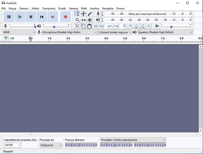 darmowy program audio Audacity