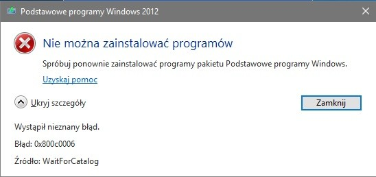 windows live mail błąd 0x800c0006