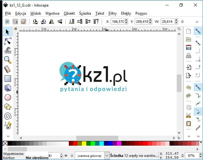 edycja pliku cdr w programie inkscape