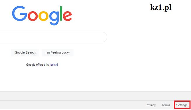 główna strona google