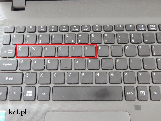 klawiatura laptopa qwerty