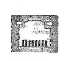 gniazdo rj45 wraz z pinami